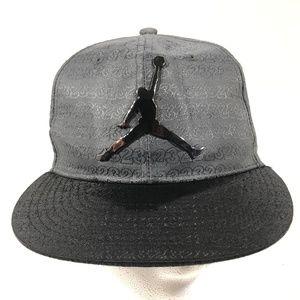 Jordan Jumpman Logo Grey/Black Cap Hat Snapback